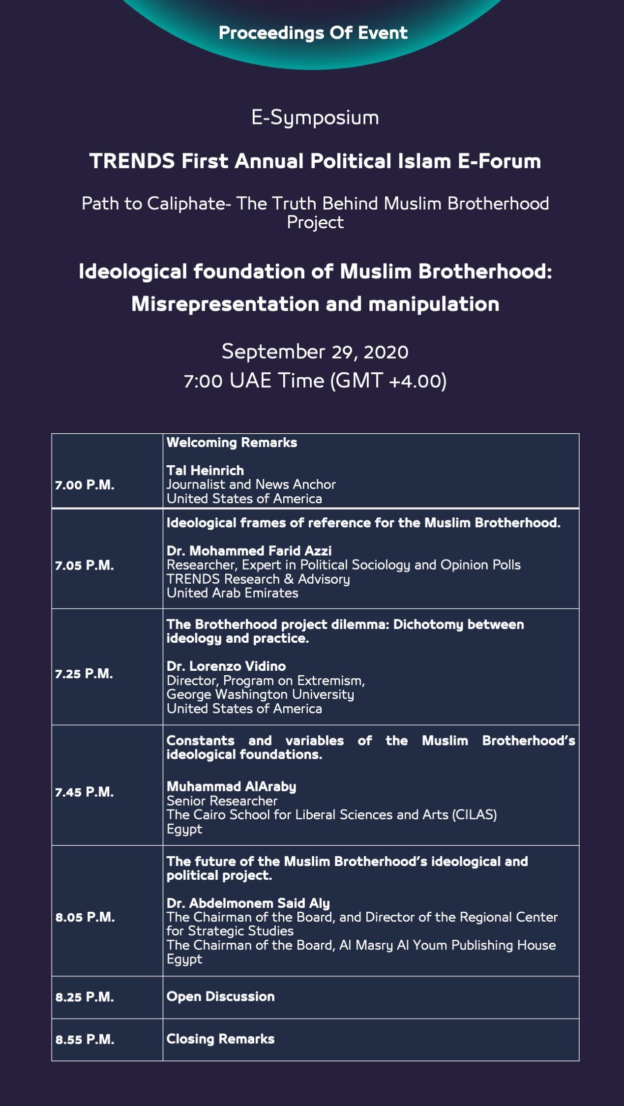 Political Islam First Symposium Proceedings